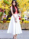 Áo croptop cam dễ thương xinh xắn như Hương Giang – A02