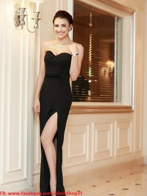 Đầm dạ hội cúp ngực chân váy xẻ cao quyến rũ