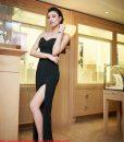 Đầm dạ hội cúp ngực chân váy xẻ cao quyến rũ – D205