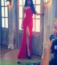 Đầm dạ hội dài đơn giản xẻ đùi cao siêu quyến rũ