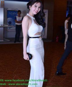 Váy dài dạ hội hở lưng siêu đẹp như Ngọc Trinh