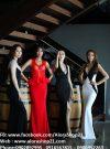 Váy dạ hội trắng phối đen độc đáo sang trọng – D226
