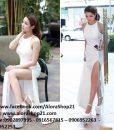 Đầm dạ hội cổ yếm xẻ đùi tôn dáng như Thủy Top – D228