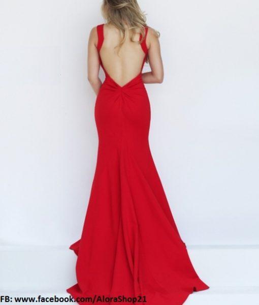 Váy dài dự tiệc cúp ngực phối lưới xẻ đùi sexy