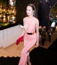 Đầm dạ hội hồng dâu cắt xẻ táo bạo sexy như Ngọc Anh – D234