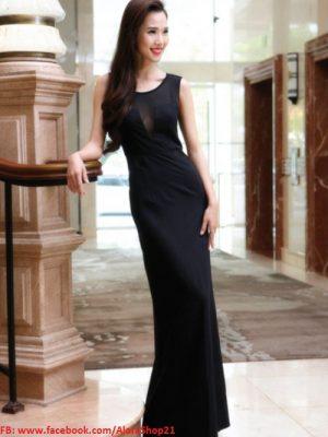 Váy dài dự tiệc phối lưới sexy tôn dáng