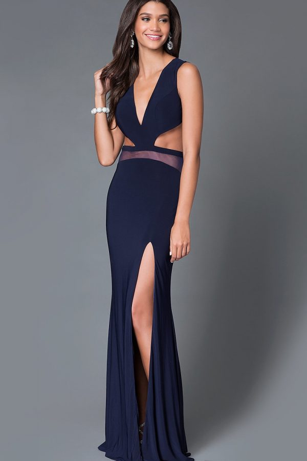 Đầm dài dự tiệc khoét eo hở lưng cut out độc đáo – D243