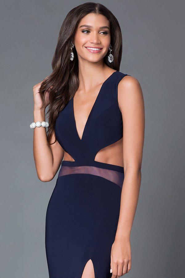 Đầm dài dự tiệc khoét eo hở lưng cut out độc đáo
