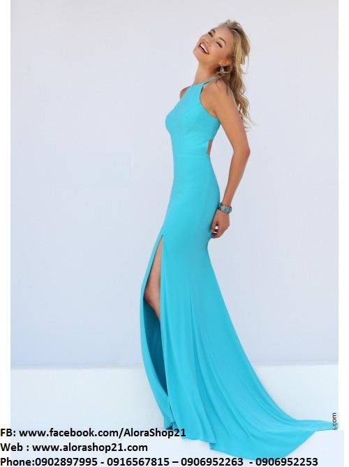 Đầm dạ hội cổ yếm trẻ trung quyến rũ – D247