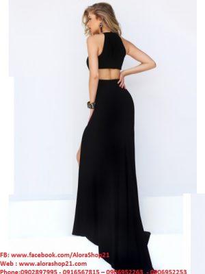 Đầm dạ hội cổ yếm trẻ trung quyến rũ
