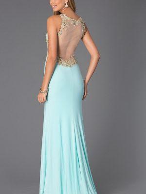 Đầm dạ hội cúp ngực phối ren sang trọng quý phái - D258