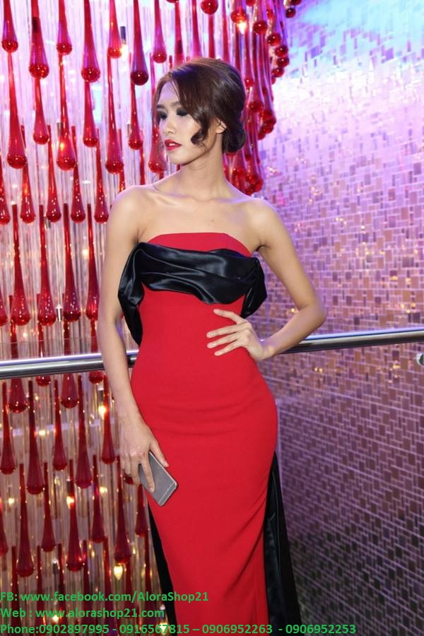 Đầm dạ hội cúp ngực vai trần sexy tôn dáng - D268