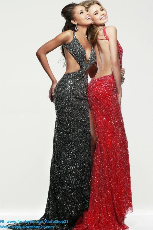 Váy dạ hội hở lưng xẻ đùi sexy tôn dáng – D271