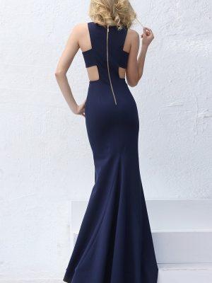Váy dài xanh đen đơn giản sexy tôn dáng - D274