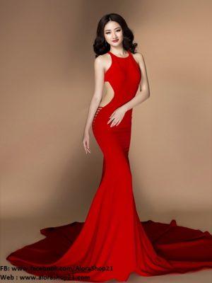 Đầm dạ hội đỏ sexy quyến rũ cực tôn dáng - D277