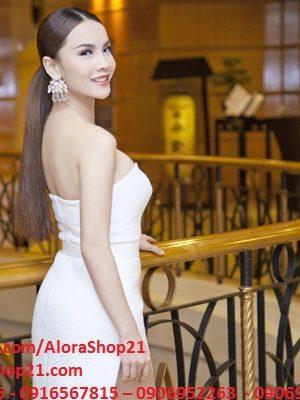 Đầm dài dự tiệc cúp ngực xẻ đùi siêu cao tôn dáng