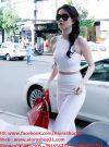 Set áo crop top kết hợp quần dài trắng sang chảnh – J04