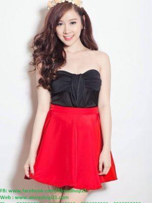 Chân váy xòe đỏ xinh xắn dễ thương