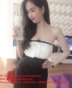 Áo ống cúp ngực trắng 2 túi Ngọc Trinh - A11
