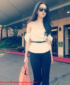 Áo trễ vai nơ Ngọc Trinh thời trang sành điệu - A12