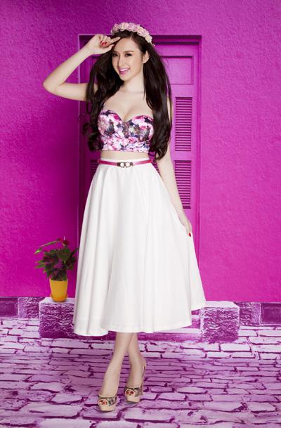 Áo croptop cúp ngực hoa xinh xắn như Phương Trinh – A15