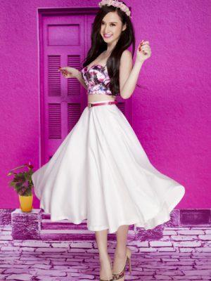 Áo croptop cúp ngực hoa xinh xắn như Phương Trinh - A15