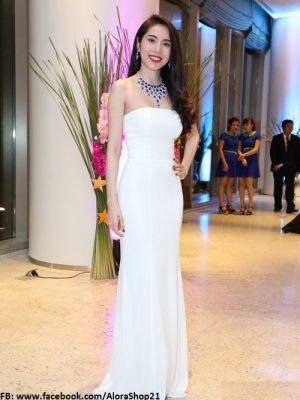 Đầm dạ hội dài cúp ngực quyến rũ đẳng cấp như Thủy Tiên - D309