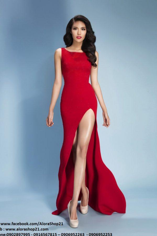Đầm dạ hội xẻ đùi tôn dáng đẳng cấp như Lan Khuê – D310