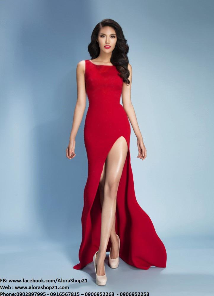 Đầm dạ hội xẻ đùi tôn dáng đẳng cấp như Lan Khuê - D310