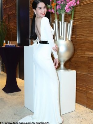 Đầm dài dạ hội hở lưng siêu đẹp như Ngọc Trinh - D311