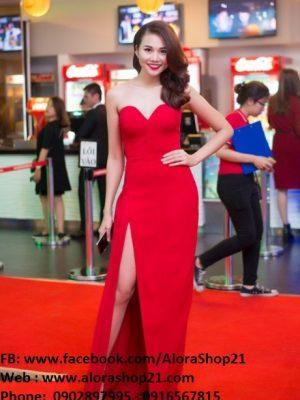 Đầm dạ hội cúp ngực xẻ đùi tôn dáng như Thanh Hằng - D320