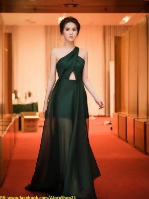 Đầm dạ hội xẻ đùi sexy tôn dáng như Ngọc Trinh - D346