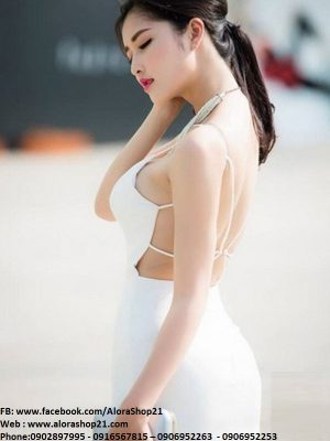 Đầm body cúp ngực hở lưng sexy như Quỳnh Anh - DN19