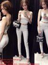 Sét áo croptop hai dây và quần ống ôm sexy sành điệu – J14