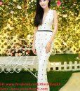 Jumpsuit dài khoét cổ V sâu tôn dáng như Yến Trang – J24