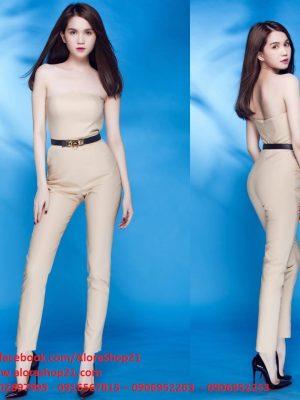 Jumpsuit áo ống quần ôm body tôn dáng như Ngọc Trinh - J43
