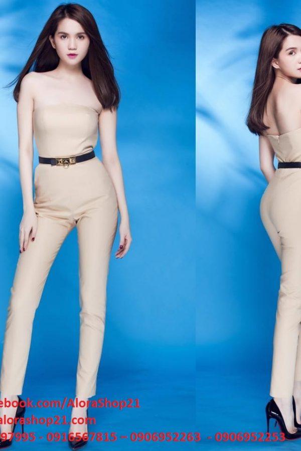Jumpsuit áo ống quần ôm body tôn dáng như Ngọc Trinh – J43