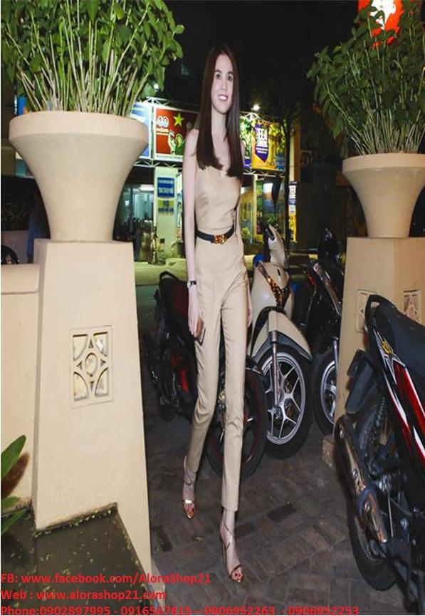 Jumpsuit 2 dây hở lưng ôm body sexy tôn dáng như Ngọc Trinh - J52