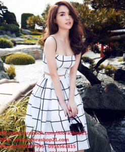 Set Áo Hai Dây Và Chân Váy Xòe Đẹp Như Ngọc Trinh - JL01