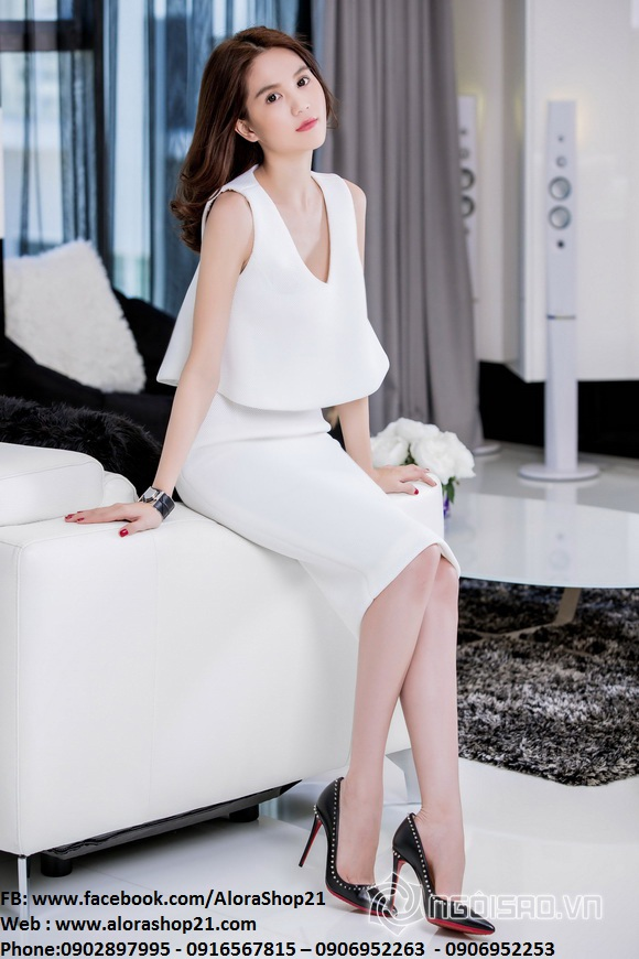 Set rời áo xòe kiểu và váy bút chì như Ngọc Trinh – JL02