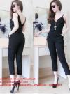 Jumpsuit áo 2 dây phối quần lửng trẻ trung sành điệu – JL22