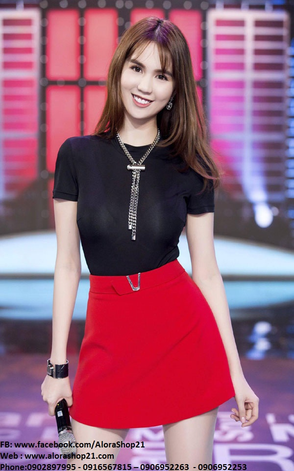 Áo phông nữ cộc tay và chân váy ngắn dễ thương - JN34