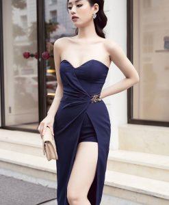 Jumpsuit ngắn thiết kế giả váy cúp ngực tôn dáng - JN36