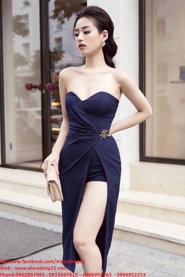 Jumpsuit ngắn thiết kế giả váy cúp ngực tôn dáng – JN36