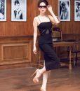 Đầm đen 2 dây thiết kế ôm body sang trọng như Ngọc Trinh - DN102