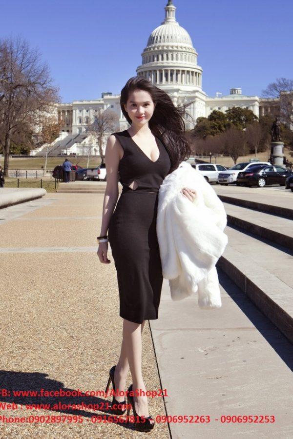 Váy body khoét eo tôn dáng gợi cảm như Ngọc Trinh – DN105