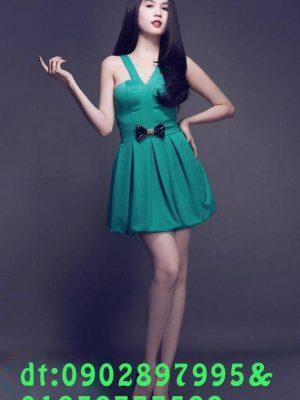Đầm xòe bẹt vai ngang sành điệu và hiện đại cho nàng - DN109