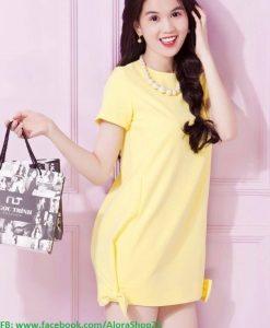 Váy suông dễ thương tay con giống Ngọc Trinh - DN114