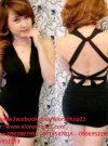 Đầm body cổ chữ V hở lưng tôn dáng như Đăng Thư - DN120