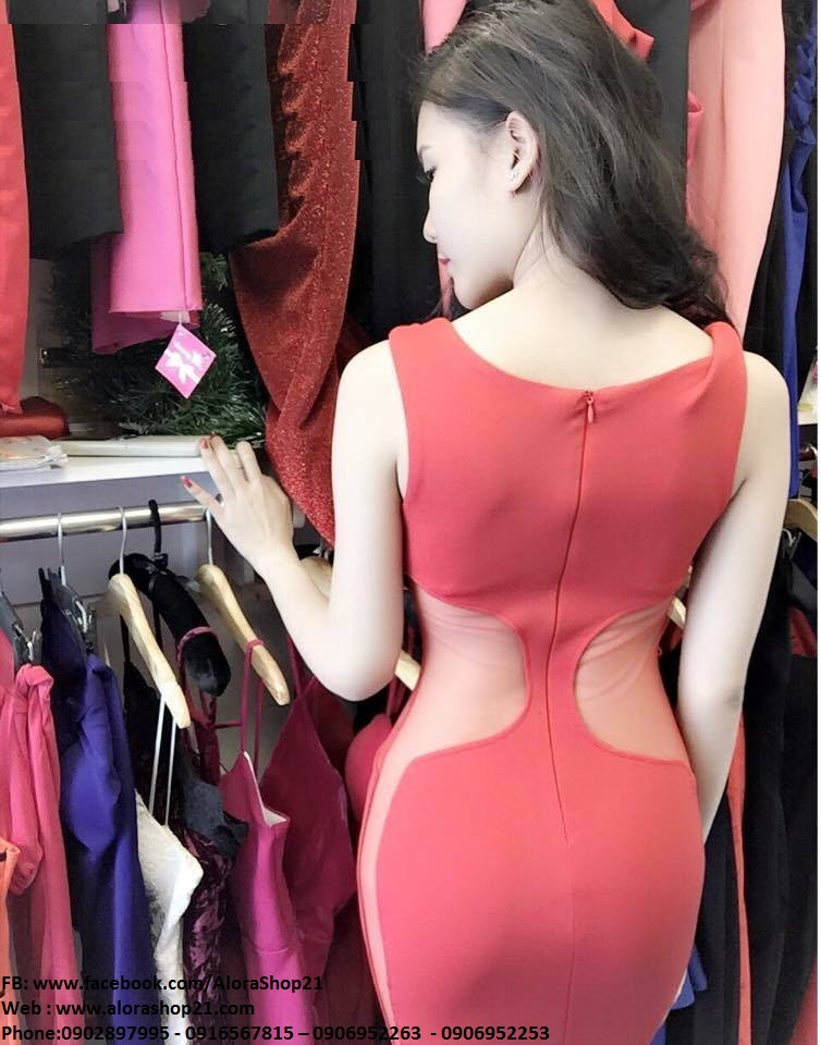 Đầm body sexy cut out khoét eo gợi cảm - DN132